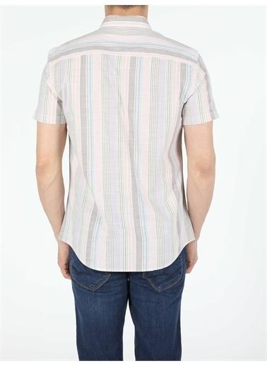 Colin's CL1053967_Q1.V1_MTC Slim Fit Shirt Neck Erkek Kısa Kol Gömlek Renkli